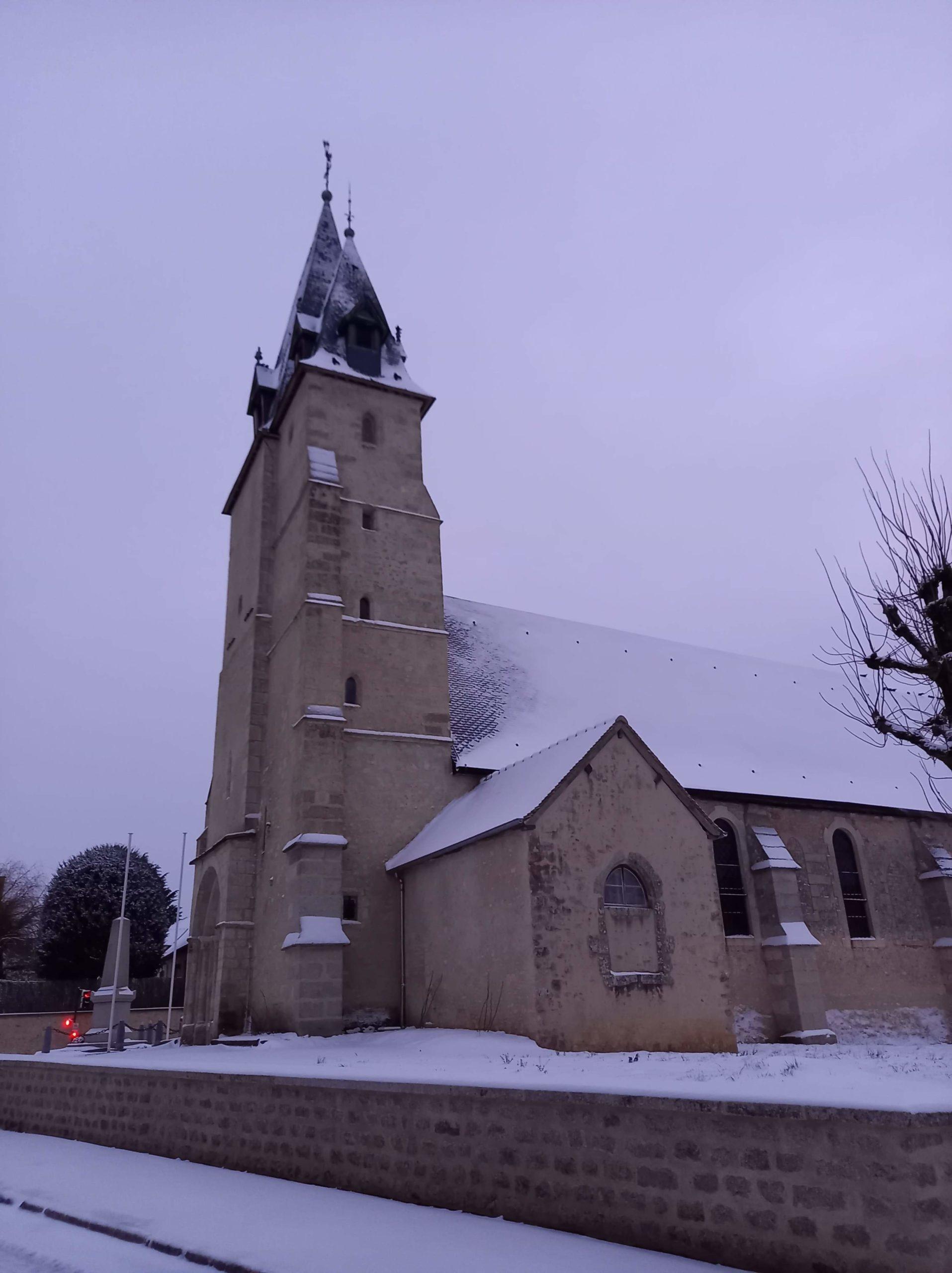 église sous la neige 2021